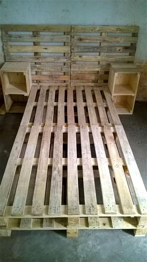 headboard with side tables 30 easy pallet ideas for the home pallet furniture diy