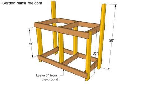 simple potting bench plans download plans a simple potting bench plans free