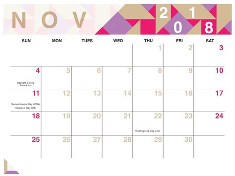 november 2015 calendar blank printable calendar template in pdf