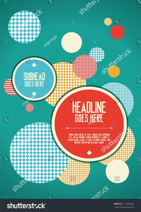 print vector poster design template layout stock vector