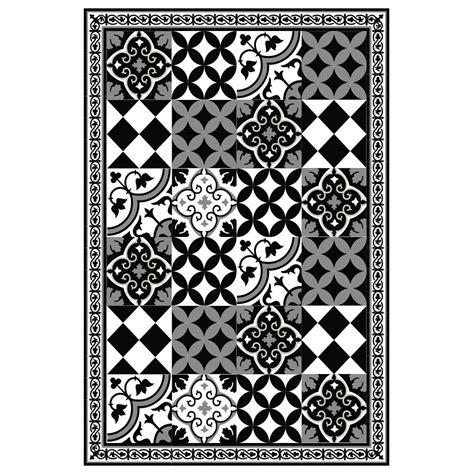 black and white pattern vinyl pvc vinyl mat tiles pattern decorative linoleum rug