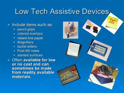 Justification Letter For Assistive Technology assistive tech intro definitions and descriptions of