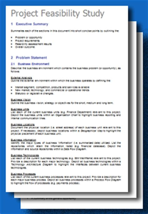 feasibility study template business feasibility study template free