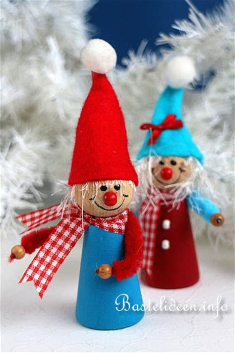 weihnachtsbasteln niedliche weihnachtswichtel