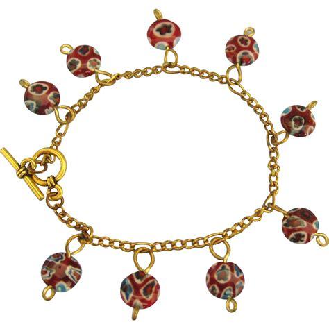 italian bead bracelets vintage italian venetian glass bead gf bracelet from