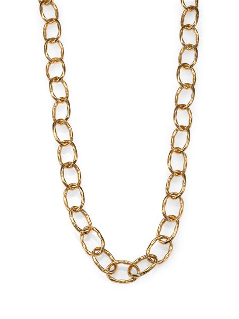 chain links for jewelry roberto coin 18k gold hammered chain link necklace in gold