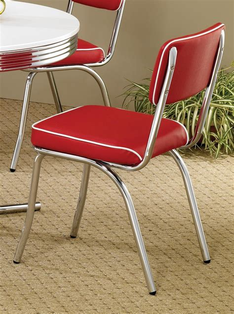retro chrome dining chairs 2450r mix match chrome plated retro dining chair set