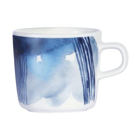 Amara Blus buy marimekko oiva coffee cup white blue amara
