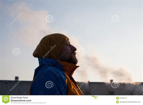 gasping for air gasping for air in polluted city stock photo image 87446116