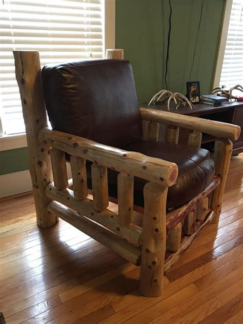 log chair  finished  beautiful customer submitted