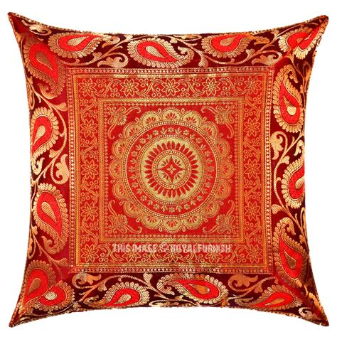 Handcrafted Pillows - flower medallion circle decorative unique handcrafted