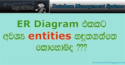html tutorial sinhala dbms sinhala tutorial part 02 er diagram i entity