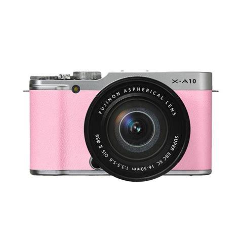 Kamera Fujifilm A10 jual fujifilm x a10 kit 16 50mm kamera mirrorless pink 16 mp harga kualitas