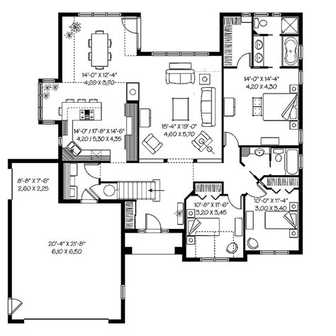 2000 sq ft bungalow floor plans house plans under 2000 square feet myideasbedroom com