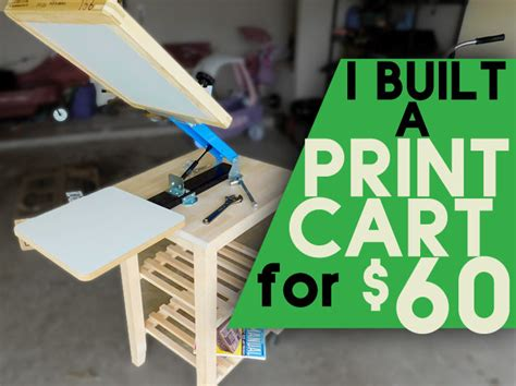 how to build a cheap screen printing cart start screen