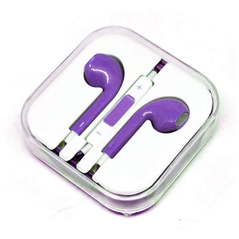 apple earphones high quality  iphone  oem purple