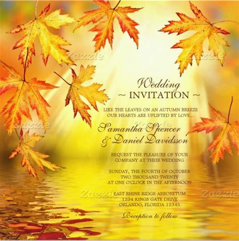 Fall Invitation Templates Free 26 Fall Wedding Invitation Templates Free Sle Exle Format Download Free Premium