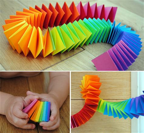 Paper Snake Craft - mollymoocrafts folded paper snake or garland mollymoocrafts