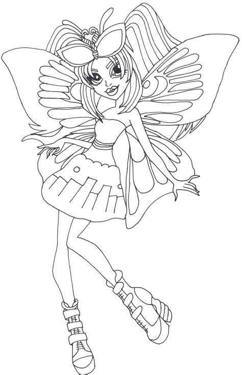 monster high luna mothews coloring pages free printable monster high coloring pages luna mothews