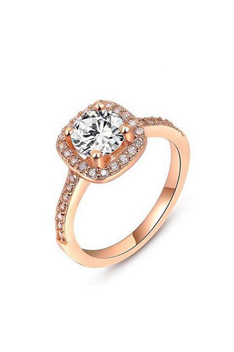 Rhinestone Ring Gold wedding jewelry silver gold rhinestone