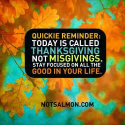 is today thanksgiving today is called thanksgiving not misgivings