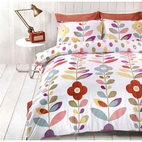 retro bed sets just contempo retro style floral duvet set
