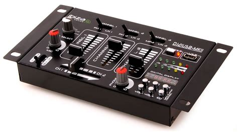 Audio Mixer Radio pa dj stereo mixer usb mp3 compact 4 channel mixer vu meters ibiza sound dj 21 mkii usb dj
