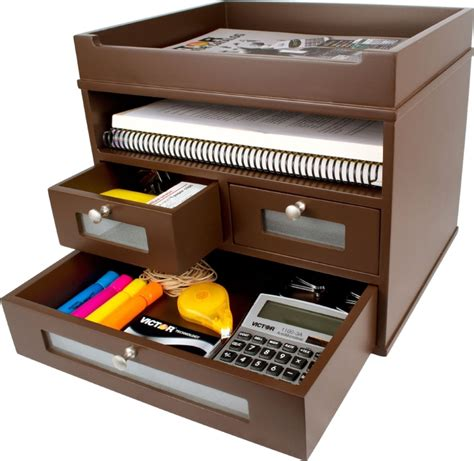 Victor Desk Organizer Victor Wood Tidy Tower Desktop Organizer
