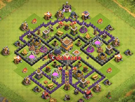 layout coc base 8 top 12 best th8 defense base 2018 new update anti
