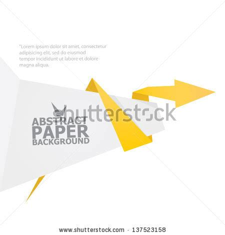 Origami Advertising - abstract white and orange paper origami background vector