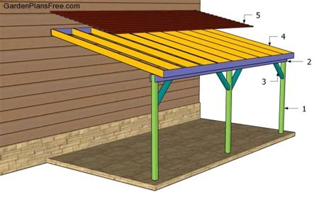 how to build an attached carport plans woodguides