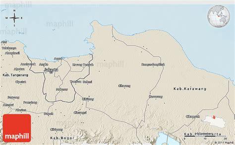 Diskon Ongkir Area Kab Bekasi shaded relief 3d map of kab bekasi