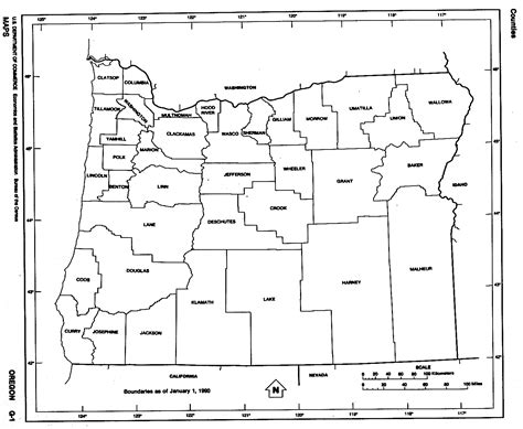 map of oregon showing counties oregon free map
