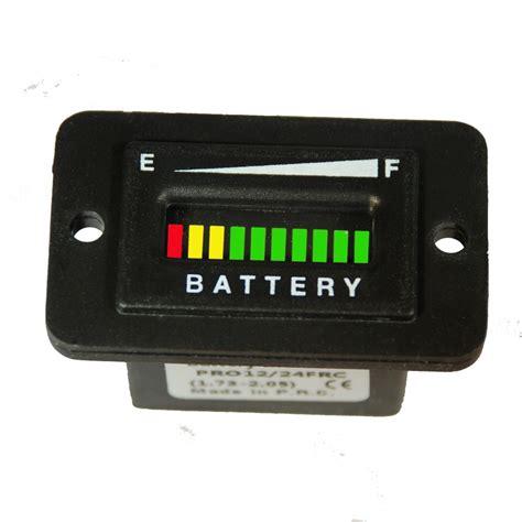 marine battery charge gauge solar ev golf cart battery indicator 12 24 36 or 48