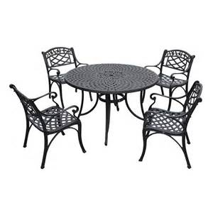 shop crosley furniture sedona 5 charcoal black aluminum patio dining set at lowes