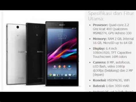 Hp Sony Ericsson Xperia Z harga hp sony xperia z ultra