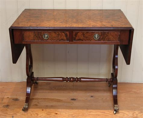 burr walnut drop leaf sofa table antiques atlas
