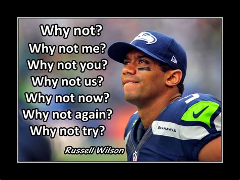 Why Me Why Us by Wilson Poster Seattle Seahawks Photo Quote Fan