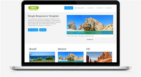 responsive templates simple responsive template