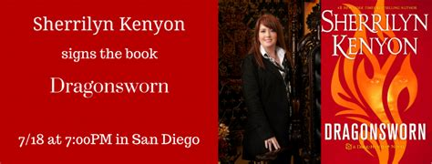 dragonsworn a novel novels sherrilyn kenyon signs in san diego mysterious galaxy