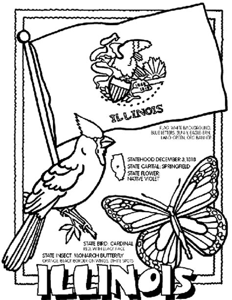 crayola coloring pages digital photos illinois coloring page crayola com