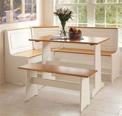 corner table and bench set linon 90305wht a kd u ardmore corner nook set white