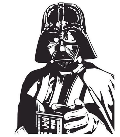 imagenes blanco y negro star wars dartvader starwars stencil dise 241 os y demas cosas