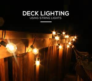 diy simple ways of using outdoor string lights to light a