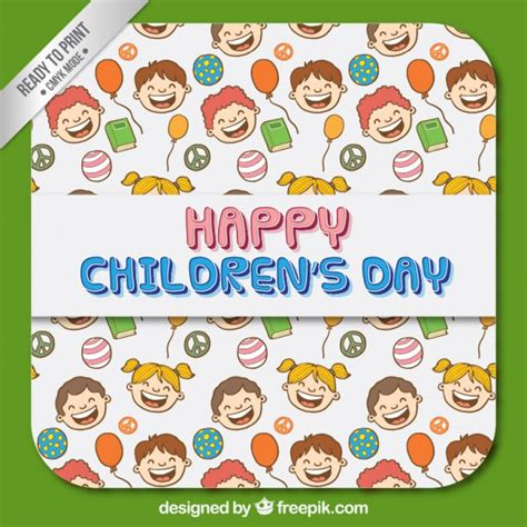children s day card template children s day card vector free