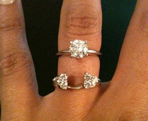 engagement ring that fits inside wedding band engagement