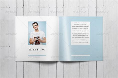 indesign booklet template indesign square photo book template by sacvand graphicriver