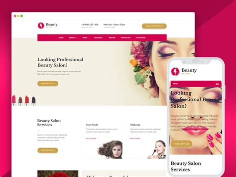 beauty salon websites templates free download ease template famous beauty templates images resume ideas www