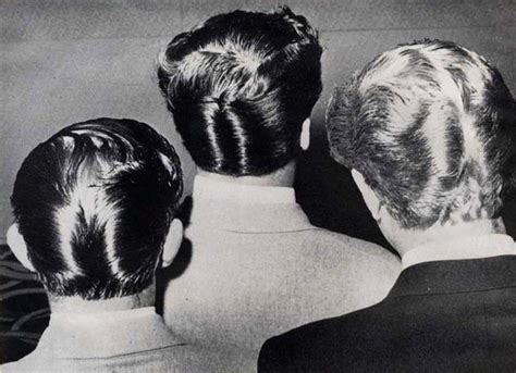 50s hairstyle research ducktail theatre period hair design research