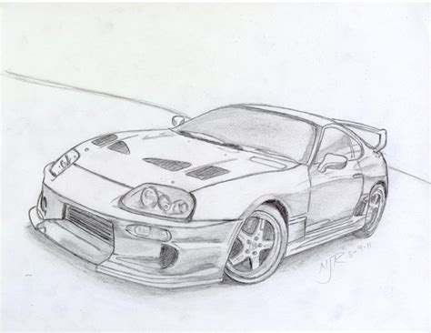 toyota supra drawing toyota supra drawing ride a quot cart quot autos